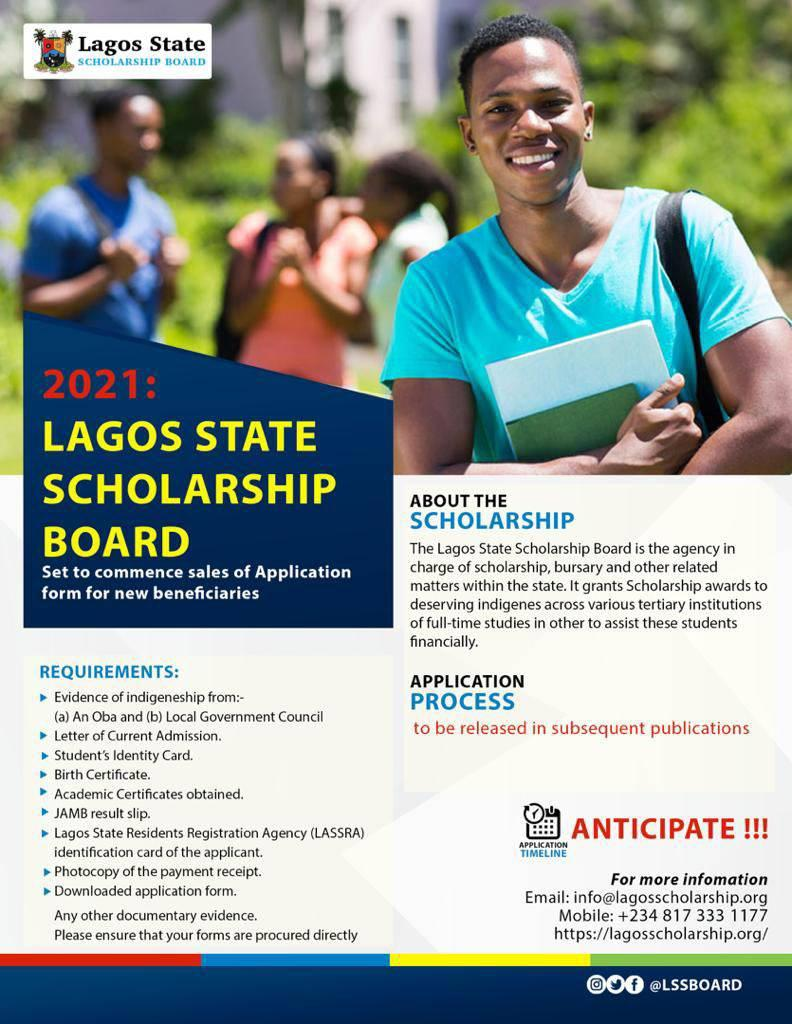Lagos State Bursary Award Application Form 2020/2021