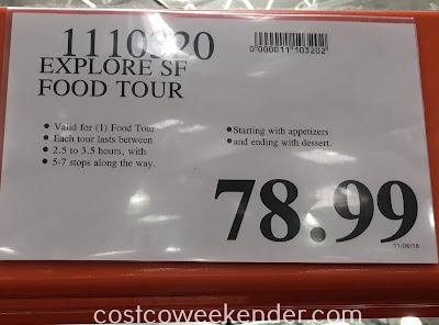 Deal for the Explore SF Food Tour at Costco
