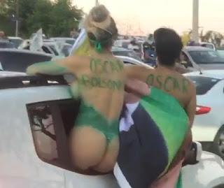 SEMINUAS: Carreata em Sobral teve presença de mulheres apenas com pintura corporal – VEJA VÍDEO