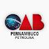 Nota OAB sobre o feminicídio ocorrido em Petrolina