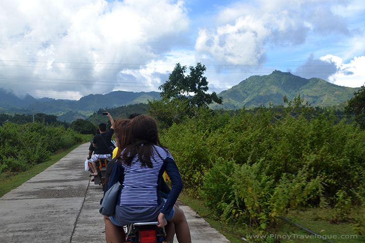 Scenic habal-habal ride en route Balinsasayao twin lakes