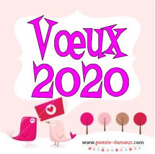 Jolie carte de vœux 2020
