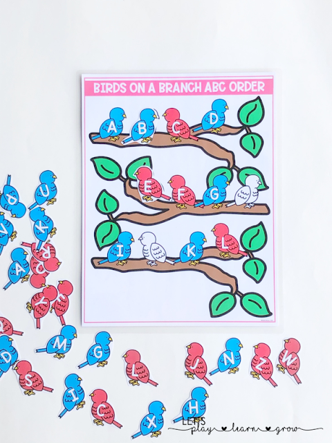 ABC Order: Spring Themed Activity Binder