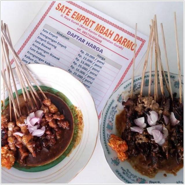 Sate Emprit Mbah Darmo;10 Top Kuliner Kediri;