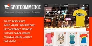 Spot commerce Blogger Template