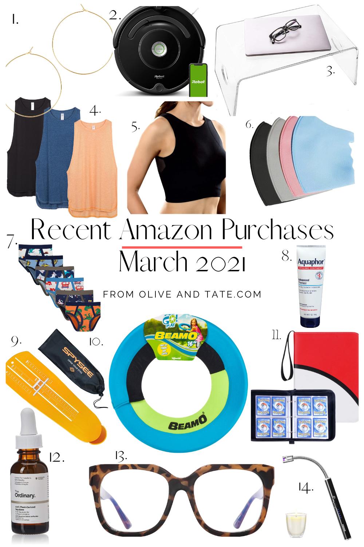 Recent Amazon Purchases Winter 2021