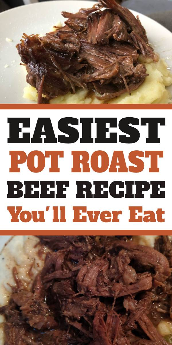 The easiest, most delicious Beef Pot Roast Recipe that you make in your slow cooker! Only 7 ingredients are needed to make this incredible roast! #potroast #roast #slowcooker #beef #mississippi #crockpot
