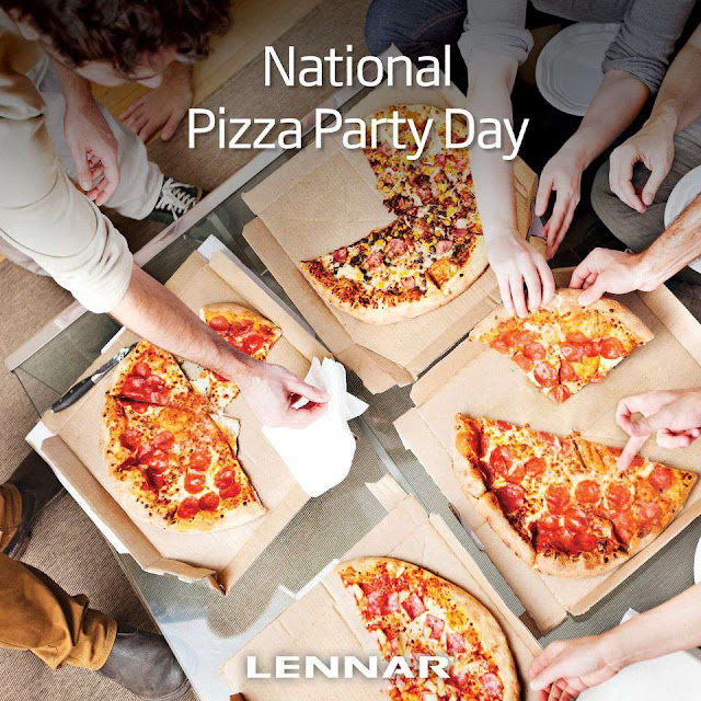 National Pizza Party Day Wishes Beautiful Image