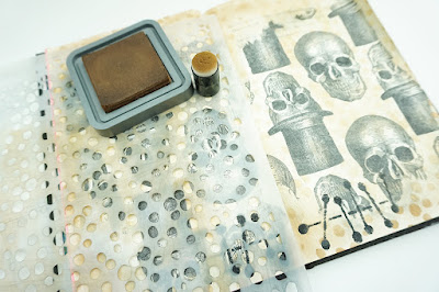 Add a Napkin to your Art Journal by Renee Day for StencilGirl Products