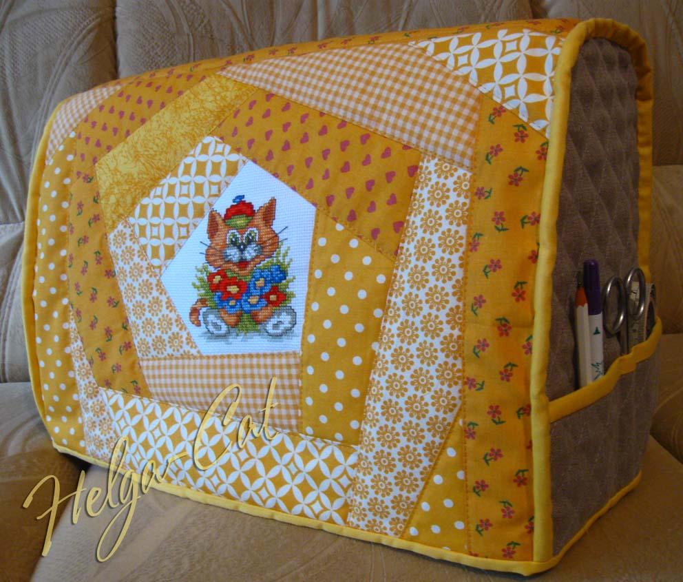 feae2082af31 Домик вышивающей кошки: Чехол для швейной машины - как его сшить