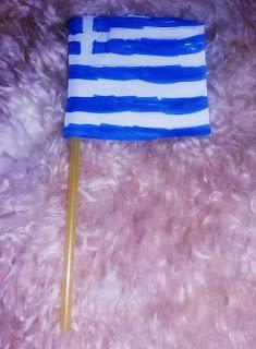 Σημαιούλα χειροποίητη για την 25η Μαρτίου