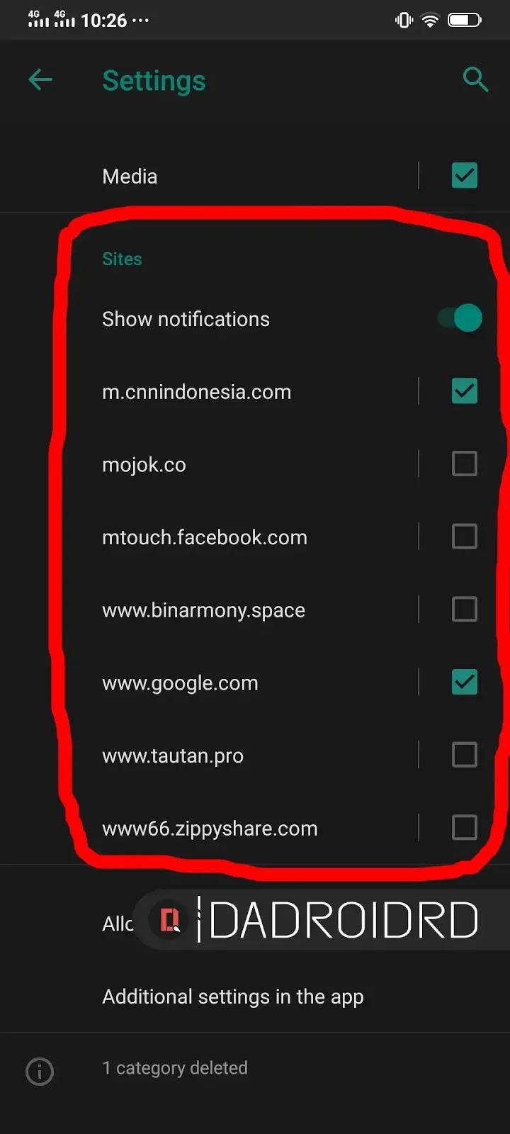 Cara Menghentikan Notifikasi Google Chrome Android Yang Terus Muncul Dadroidrd