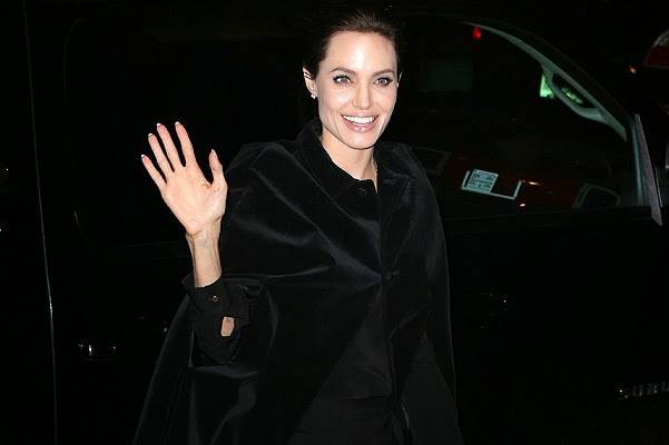 The first appearance of Angelina Jolie after the accident