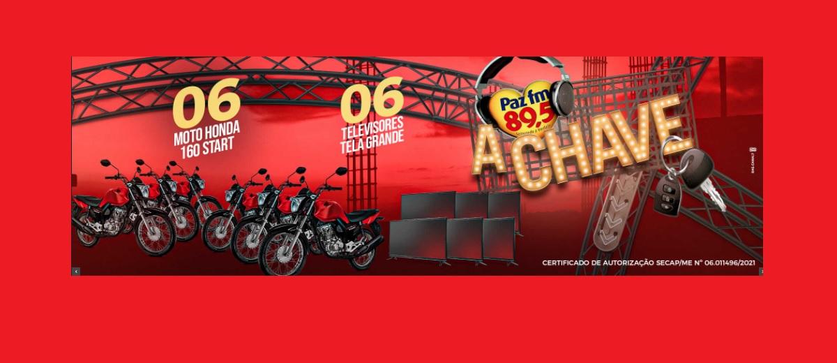 Participar Promoção A Chave Paz FM 2021 Motos e Tvs - Rádio 89,5