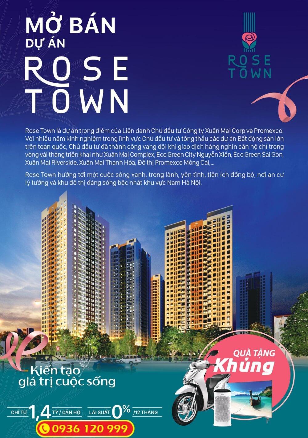 Ưu đãi mở bán Rose Town Ngọc Hồi