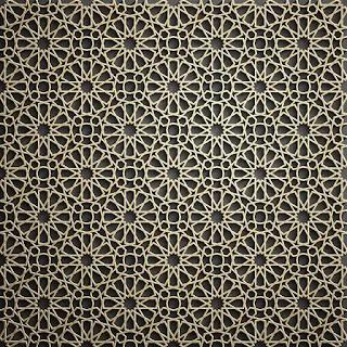 تحميل باترن إسلامي ثلاثي الأبعاد باللون الذهبي 3