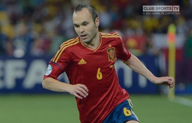 6e5b8eaaa7 O meio-campista Andres Iniesta disse nesta segunda-feira que se aposentará  da seleção espanhola após a Copa do Mundo da Rússia.