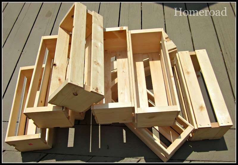 Wooden Crate Wall Cubbies