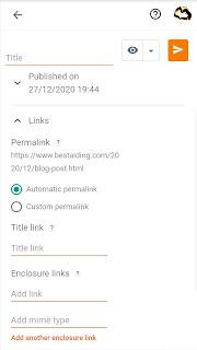 Permalink, title link, enclosure link