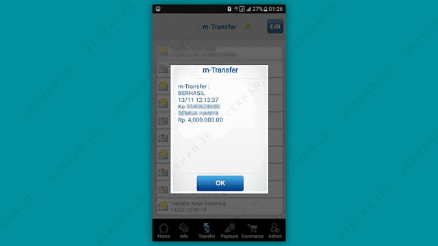 contoh screenshot bukti transfer bca mobile
