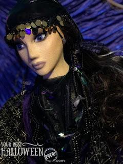 halloween character decoration, fortune teller prop, diy halloween mannequin
