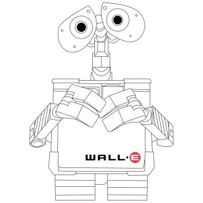 Cute WallE Coloring Pages