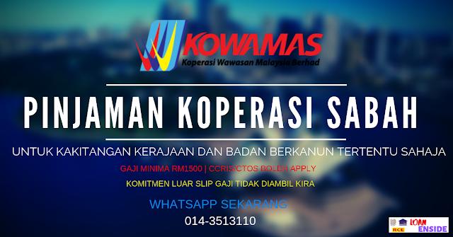Pinjaman Koperasi Wawasan Malaysia Berhad Di Sabah