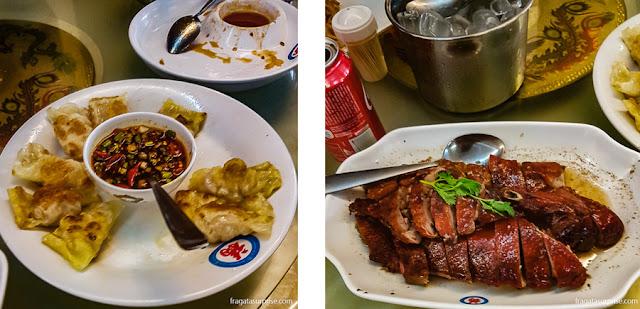 Pratos do restaurante chinês Chi Fu, na Liberdade, São Paulo