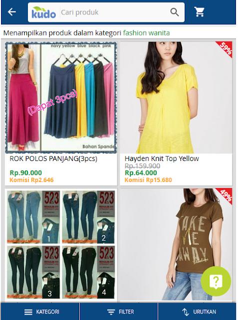 Kudo.co.id: Solusi Inovatif Jualan Via Toko Online Hampir Tanpa Modal, produk fashion wanita pria Kudo.co.id