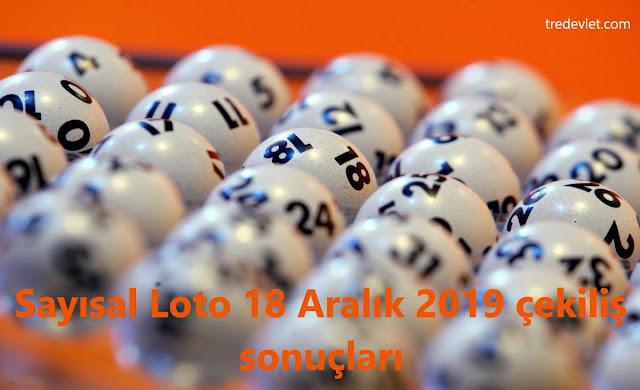 Sayısal Loto 18 Aralık 2019 çekiliş sonuçları, Milli Piyango sorgulama