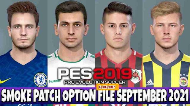 تحميل أحدث أوبشن فايل اخر الانتقالات 2022 لبيس PES 2019 ✨✨