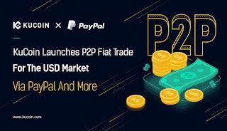 تدعم منصة (KuCoin (P2P الآن شراء العملات الرقمية من خلال PayPal