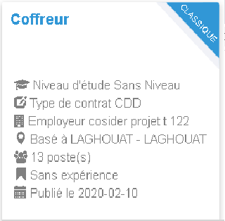 Coffreur Employeur : cosider projet t 122