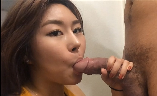 image Korean girl gives blowjob and cum swallow