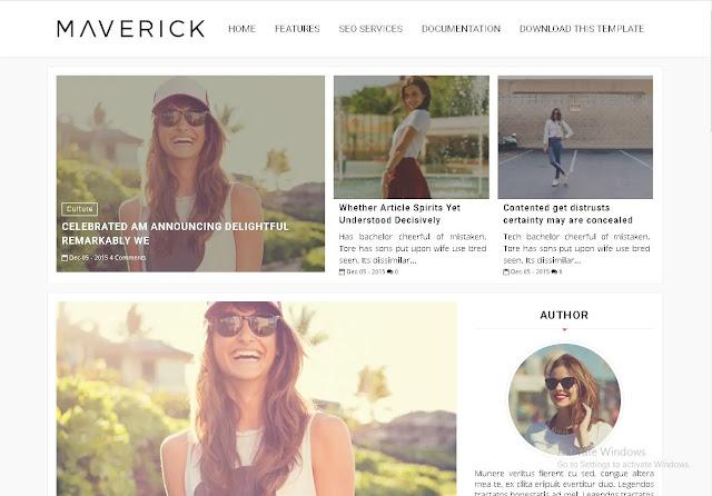 Download Maverick - Premium Blogger Template