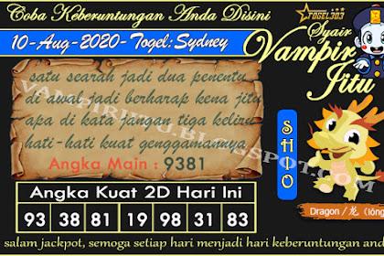 Syair Vampir Jitu Togel Sydney Senin 10 Agustus 2020