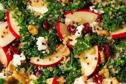 Autumn Kale Apple and Quinoa Salad