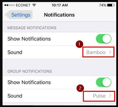 pengaturan notifikasi whatsapp di iphone