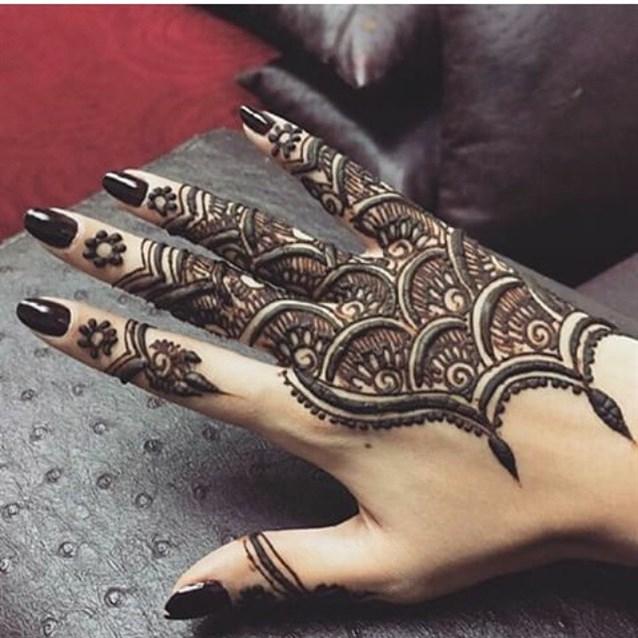 اجمل نقش حناء 2018 لليدين خليجي , صور نقش حناء هندي اماراتي سهل