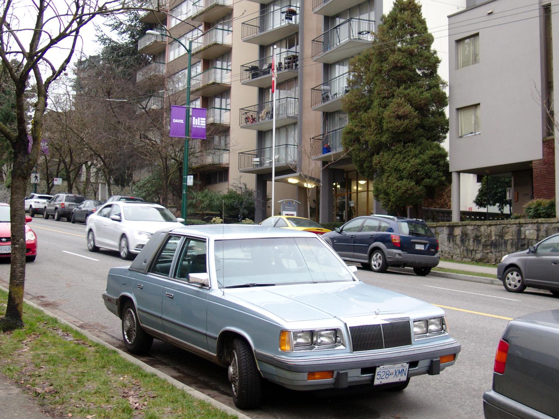 Old Parked Cars Vancouver 1985 Chrysler Lebaron