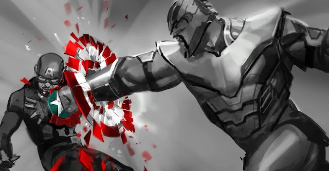 Avengers: Endgame -Thanos Destroying Captain America Shield