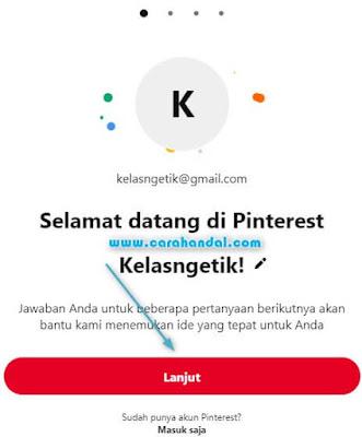 Cara Membuat Akun Pinterest Pribadi