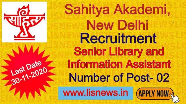 Senior Library and Information Assistant at Sahitya Akademi