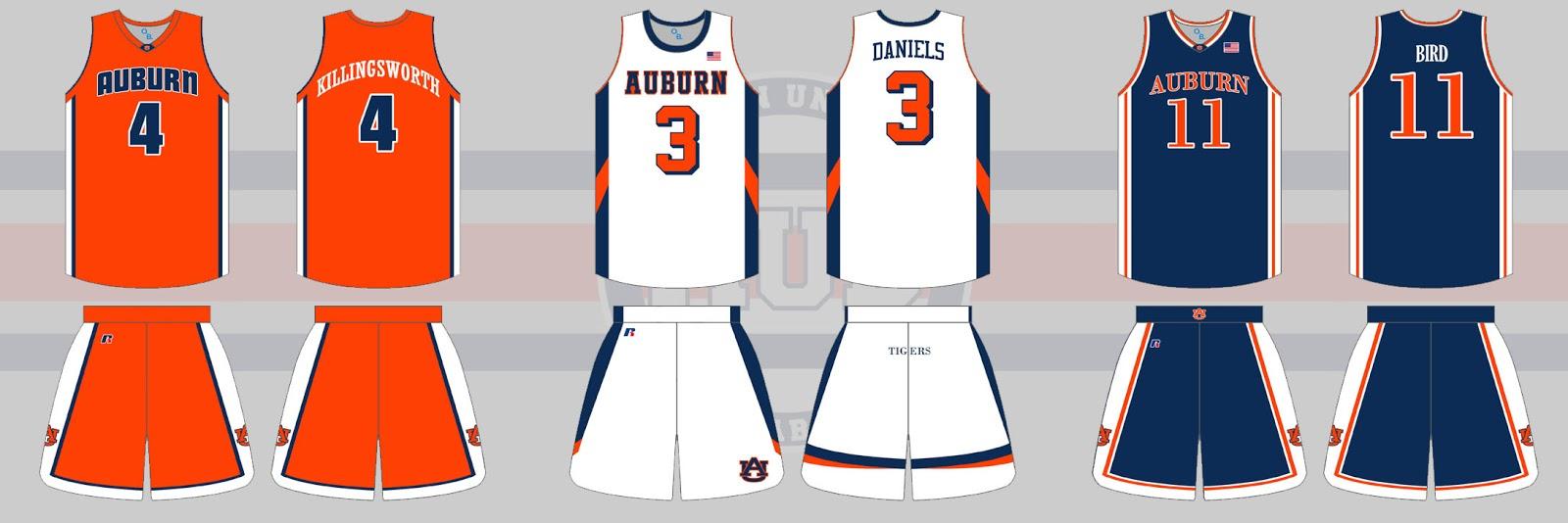 Auburn Uniform Database Basketball Uniforms