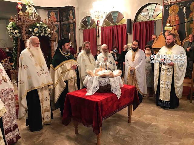 Πανηγυρικός εσπερινός στον Ίναχο Αργολίδας για τον Άγιο Δημήτριο
