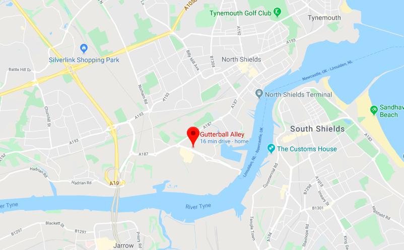 Gutterball Royal Quays Map