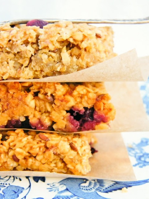 Scottish Fresh Blueberry Oat Flapjacks