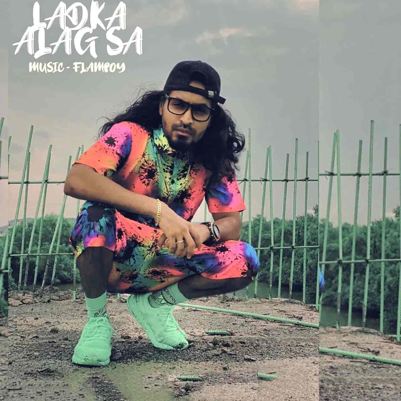 Ladka Alag Sa Rap Song Image Features Emiway Bantai