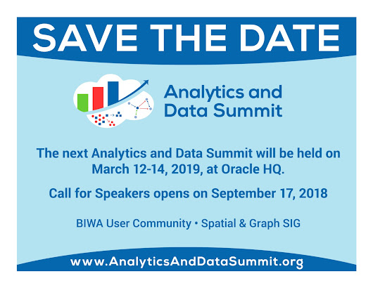 Analytics and Data Summit Mar 20-22, 2018 is Over!