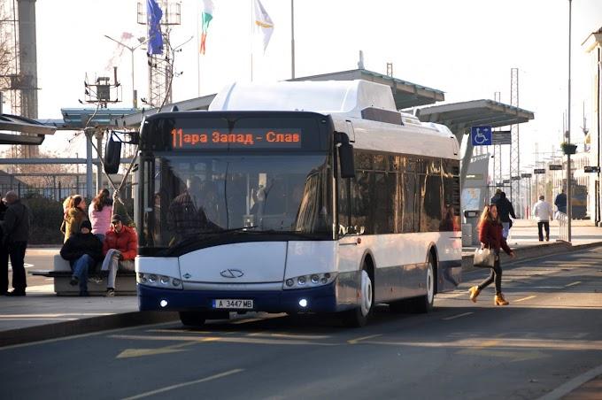 Нови електробуси за градския транспорт на Бургас